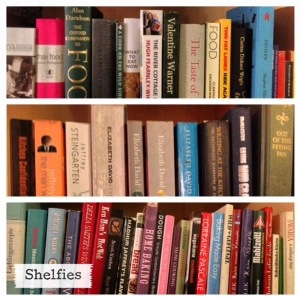 "My contribution to the ""shelfie"" meme."